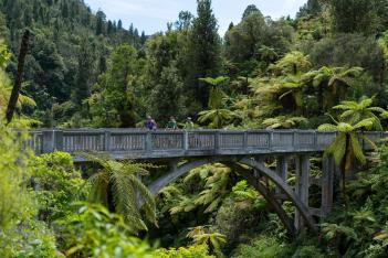 Bridge to Nowhere Mountains-to-Sea-cycle-trail-Whanganui National Park