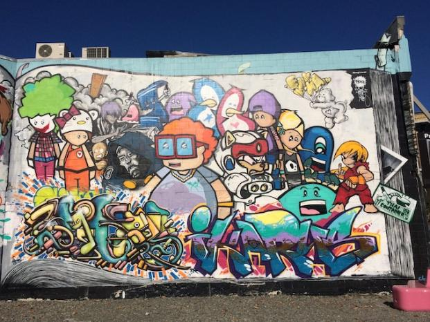 Danny Shu Laid Back Lifestyle in Christchurch Graffiti Wall