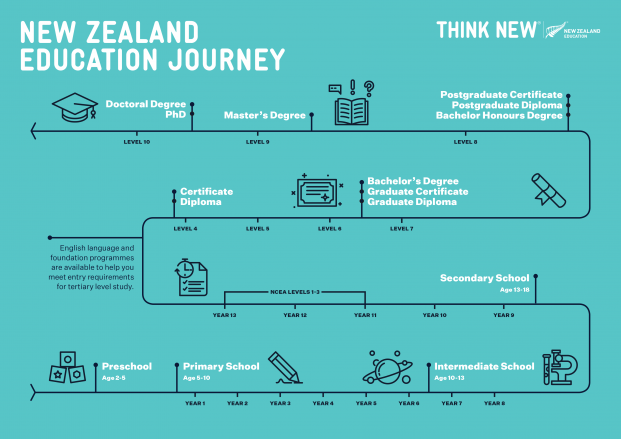 Education journey infographic A4
