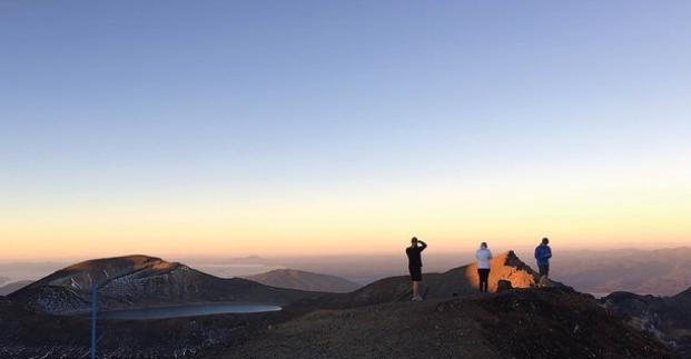 Tongariro Crossing Sunset