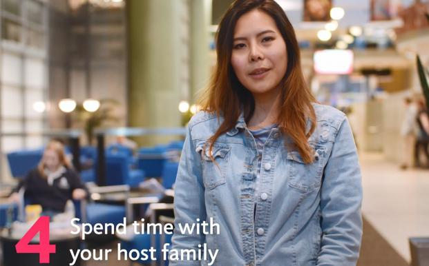 Sunny's 4th tip for learning English in New Zealand is to spend time with your host family
