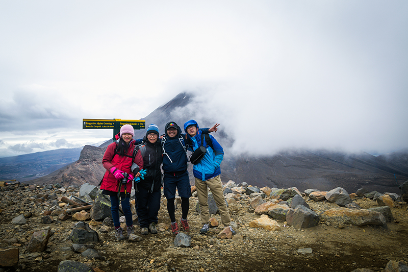 Tongariro crossing saddle