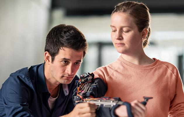 Students studying robotics in New Zealand