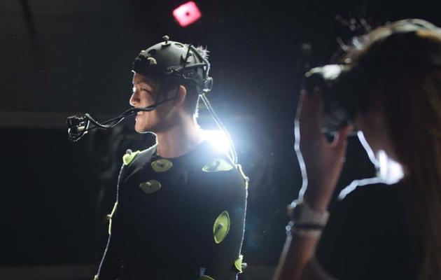 students in motion capture studio