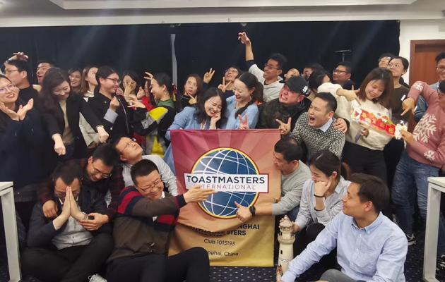 students at toastmasters