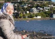 International student by the coast in Dunedin New Zealand