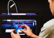 Indian internship students 3D printing at Massey