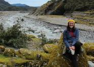 Sophie Hilker hiking in New Zealand