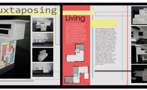 Graphic Design yr13 architectural presentation