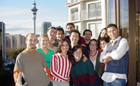 LSI Auckland Students on balcony