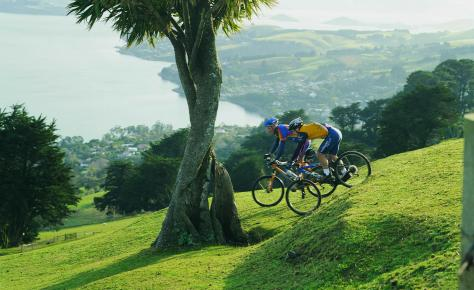 Mountain biking On Otago Peninsula