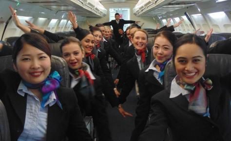 NZ school of tourism flight attending air hostess 002