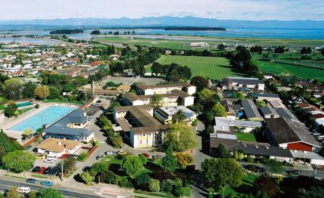Nayland College from the air