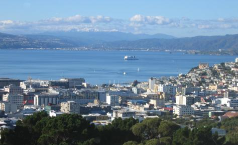 Wellington Harbour looking towards Upper Hutt